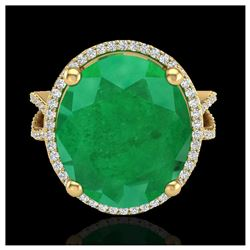 1.75 ctw SI/I Fancy Intense Yellow Diamond Ring 10K Rose Gold
