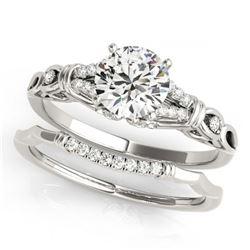 2.03 ctw Emerald & Diamond Ring 10K White Gold