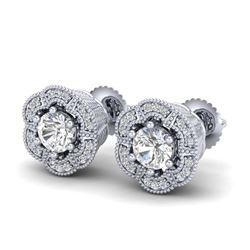 2.0 ctw VS/SI Diamond Brooch 14K White Gold