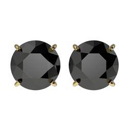6 ctw Tanzanite & VS/SI Diamond Tennis Earrings 10K Yellow Gold