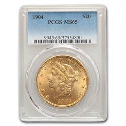 1904 $20 Liberty Gold Double Eagle MS-65 PCGS
