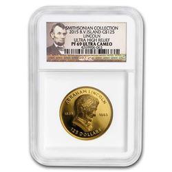 2015 BVI $125 Gold Smithsonian Collection: Lincoln PF-69 NGC