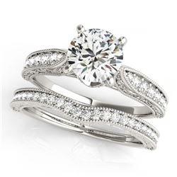 2.33 ctw Blue Sapphire & Diamond Ring 18K White Gold