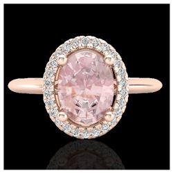 0.83 ctw VS/SI Diamond Solitaire Art Deco Ring 18K White Gold