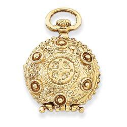 14k Yellow Gold Fancy Domed Locket