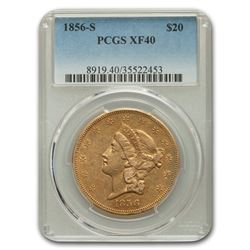 1856-S $20 Liberty Gold Double Eagle XF-40 PCGS