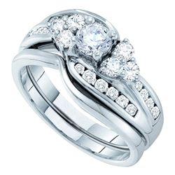 14kt Yellow Gold Princess Diamond Halo Cluster Bridal Wedding Engagement Ring 3.00 Cttw