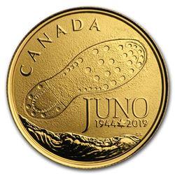 2019 Canada Gold $100 75th Anniversary: D-Day at Juno Beach
