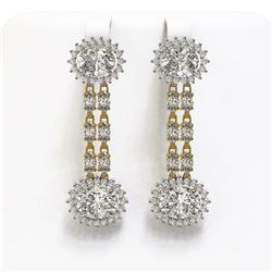 7.65 ctw Yellow Sapphire & Diamond Necklace 14K White Gold