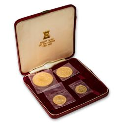 1976 Isle of Man 4-Coin Gold Set BU (2.194 AGW)