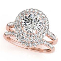 1.46 ctw VS/SI Diamond 2pc Wedding Set Halo 14K Yellow Gold