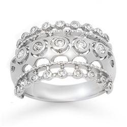 1.01 ctw VS/SI Princess Cut Diamond Ring 18K White Gold