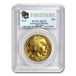 2010 1 oz Gold Buffalo MS-70 PCGS (FirstStrike®)