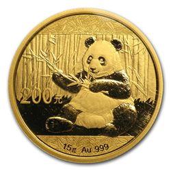 2017 China 15 gram Gold Panda BU (Sealed)