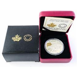 2014 $20.00 .9999 Fine Silver Coin - Cougar: Atop