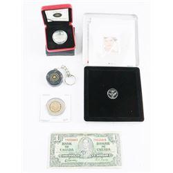 Estate Bag Lot Coins Note Misc.