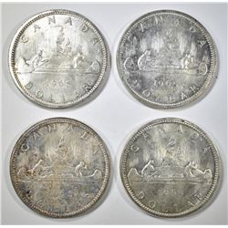 4-1965 CANADIAN SILVER DOLLARS