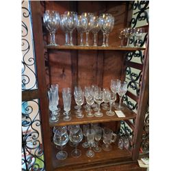 3 Shelves of Glass Stemware A