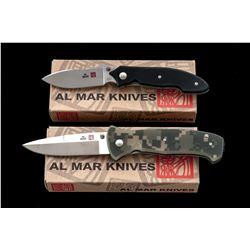 Lot of 2 New 1st Prod. Al Mar Knives