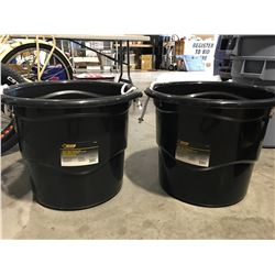 STEEL GRIP HEAVY DUTY 65 LITER BUCKET WITH HANDLES X 2 - A