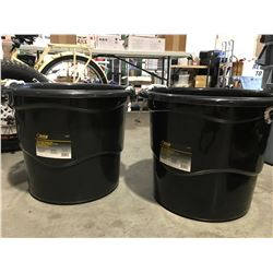 STEEL GRIP HEAVY DUTY 65 LITER BUCKET WITH HANDLES X 2 - B
