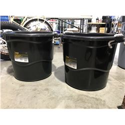 STEEL GRIP HEAVY DUTY 65 LITER BUCKET WITH HANDLES X 2 - C
