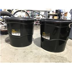 STEEL GRIP HEAVY DUTY 65 LITER BUCKET WITH HANDLES X 2 - D