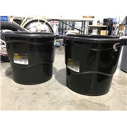 STEEL GRIP HEAVY DUTY 65 LITER BUCKET WITH HANDLES X 2 - E
