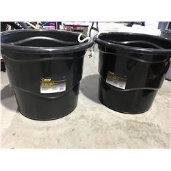 STEEL GRIP HEAVY DUTY 65 LITER BUCKET WITH HANDLES X 2 - F