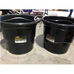 STEEL GRIP HEAVY DUTY 65 LITER BUCKET WITH HANDLES X 2 - G
