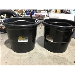 STEEL GRIP HEAVY DUTY 65 LITER BUCKET WITH HANDLES X 2 - H
