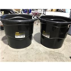 STEEL GRIP HEAVY DUTY 65 LITER BUCKET WITH HANDLES X 2 - I
