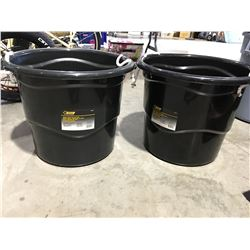 STEEL GRIP HEAVY DUTY 65 LITER BUCKET WITH HANDLES X 2 - J