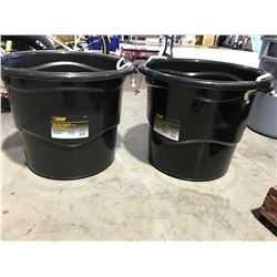 STEEL GRIP HEAVY DUTY 65 LITER BUCKET WITH HANDLES X 2 - K