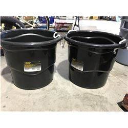 STEEL GRIP HEAVY DUTY 65 LITER BUCKET WITH HANDLES X 2 - L