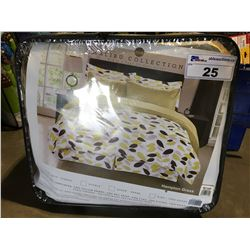 MCH MALIBU COLLECTION TWIN SIZE  BED IN A BAG (COMFORTER/BED SKIRT/PILLOW SHAM/FLAT