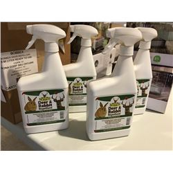 BOBBEX DEER & RABBIT REPELLENT 1 LITER SPRAY BOTTLE X 4 - B