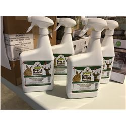 BOBBEX DEER & RABBIT REPELLENT 1 LITER SPRAY BOTTLE X 4 - C