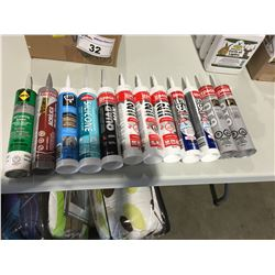 ASSTD SEALANTS (DAP 3.0 WINDOW/DOOR/TRIM & SIDING, LEPAGE WINDOW/DOOR/SIDING, MULCO SILICONE