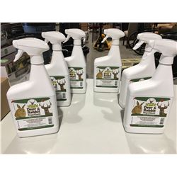 BOBBEX DEER & RABBIT REPELLENT 1 LITER SPRAY BOTTLE X 6