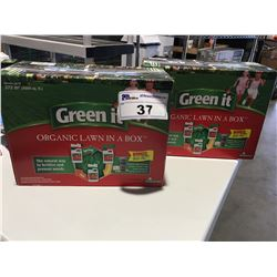 GREEN IT ORGANIC LAWN IN A BOX (THE NATURAL WAY TO FERTILIZE & PREVENT WEEDS) COMPLETE ORGANIC