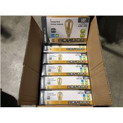UBERHAUS LED 4 VINTAGE 40 W BULBS DIMMABLE/400 LUMENS/360 DEGREE/>80CRI/IRC/15000 HRS/E26 BASE X 6
