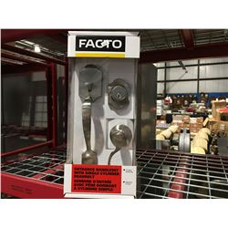 FACTO ENTRANCE HANDLESET WITH SINGLE CYLINDER DEADBOLT - A
