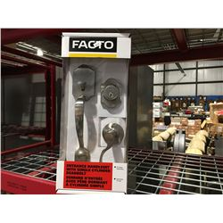 FACTO ENTRANCE HANDLESET WITH SINGLE CYLINDER DEADBOLT - D