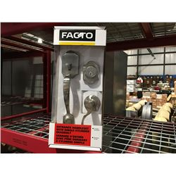 FACTO ENTRANCE HANDLESET WITH SINGLE CYLINDER DEADBOLT - F