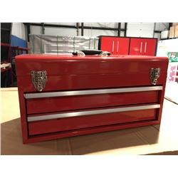 "ACE 19"" 2 DRAWER METAL TOOL BOX - 55X27X32 CM - RED"
