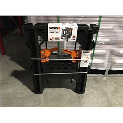 """WORX CLAMPING SAWHORSES (27"""" X 18"""") 1000LBS & 2 X DIRECT MOUNT QUICK CLAMPS - D"""