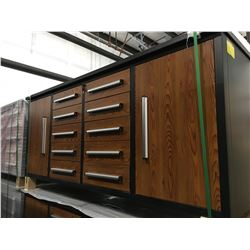 STEELMAN 7FT WORK BENCH WITH 10 DRAWERS  WITH LOCK & ANTI-SLIP LINERS, USING