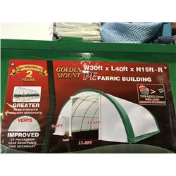 GOLDEN MOUNT - S304015R-PE DOME STORAGE SHELTER C/W 30' X40' X 15' DOME ROOF FRAME - SNOW RATING