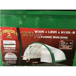 GOLDEN MOUNT - S308515R-PE DOME STORAGE SHELTER C/W 30' X 85' X 15' DOME ROOF FRAME - SNOW RATING